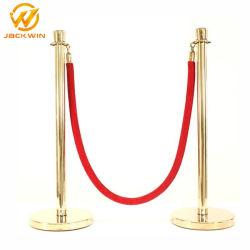 Sostegni rossi della corda del velluto di controllo di folla dell'acciaio inossidabile per l'aeroporto/i velivoli