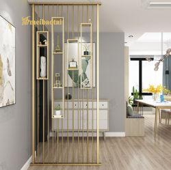 304 decoração colorida sala decorativos de partição de aço inoxidável do divisor de divisor de metal para casa e partição de quarto de hotel