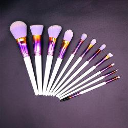 11 packs Set de haute qualité de poils de chèvre cosmétiques Brosse de maquillage