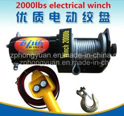 최고 판매 좋은 품질 전기 윈치 DC 12V 2000lb 차 자동차 윈치