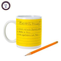 Nuevo diseño de la tiza Bloc de notas Mug de cerámica con tiza Pen