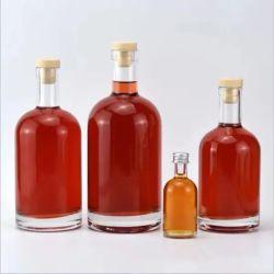 熱い販売法500ml-1500mlの高品質の空の明確なガラスウイスキーボトル