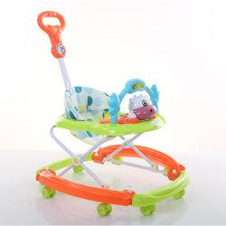 2 en 1 paseo en los juguetes de niño pequeño andador con la barra de empuje
