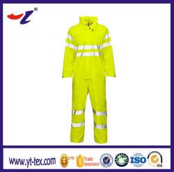 Realce amarelo reflector veste retardante de chamas
