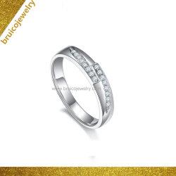Monili nuziali dell'anello di cerimonia nuziale d'argento dell'oro dei monili di lusso di modo