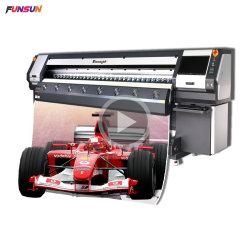 屋外の印刷のための720dpi 8ヘッドが付いているFunsun Fs3208K 3.2mの屈曲の旗の支払能力があるプリンター