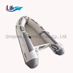 Crogiolo di alluminio rigido gonfiabile di battello pneumatico di pesca della nervatura del guscio del PVC di Ilife piccolo/tubo di Hypalon con la certificazione del Ce