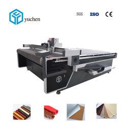 Yuchen CNC 진동 절단기로 만드는 의복 또는 단화 갑피 핸드백 또는 벨트를 위한 가죽 직물 절단기
