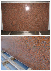 Borde Natural Sierra de banda 562 Maple losa de granito rojo