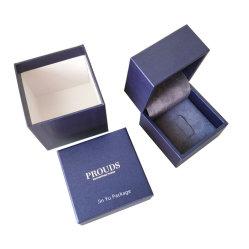 Un excellent cadeau personnalisé charnière en plastique anneau boîtes d'emballage de vente en gros de bijoux
