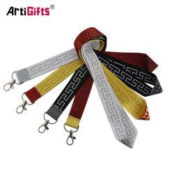 卸し売り工場価格はIDの帯出登録者の高品質のカスタマイズされた個々の多彩な編まれたNylongの熱伝達の締縄を印刷した