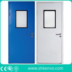 GMP Hygiene Galvanized Iron または 304 ステンレススチール製インテリアモジュール式クリーンルーム食品、製薬、医療、病院、ラボ用金属スイングエントリドア