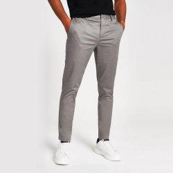 Растянуть хлопок Саржа из мужчин в тонкий Chinos повседневные брюки продажи с возможностью горячей замены