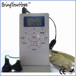 スクリーン(XH-FM-002)が付いている小型FMのラジオ