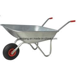 Best Seller galvanizado 62L Carretilla de mano con la rueda de aire de caucho