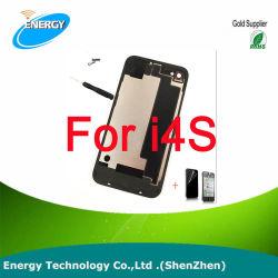 4 nouvelles pour l'iPhone 4G compatible dos du couvercle de batterie de porte arrière en verre blanc/noir de remplacement