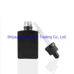 30ml fosca preta de vidro retangular conta-gotas para frascos E LÍQUIDO E Cig Azeite