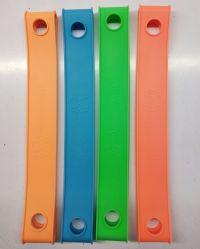 Bande de silicone avec éclat lumineux et coloré foncé