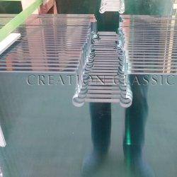 Modernes milchiges Isolierbadezimmer-Glasmöbel-Faser-ausgeglichenes Glas