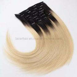 Долго кружева бразильского естественного человеческого волоса Wig Clip добавочный номер
