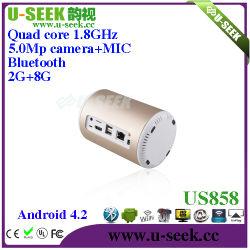 Rk3188 webcam 5.0MP Quad Core Set Top Box da TV XBMC 2G/8g Bt Televisão Digital por Cabo Decodificador US858
