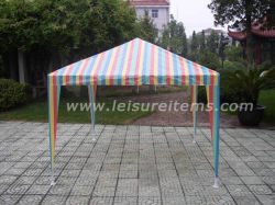 Kleiner PET Gazebo mit Regenbogen-Streifen-Entwurf (OCT-XC001)