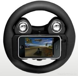El volante de altavoz de estilo para el iPhone 4/4s Gt Racing Días de trueno