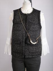 """Senhoras"""" Colete de Tweed no estilo da Chanel"""