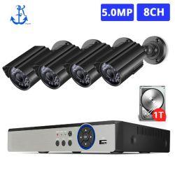 H. 265+ 8CH 5MP Ahd système CCTV DVR Kit 4PCS 1080P 1920p HD étanche extérieur bullet camera P2p sécurité Kit de surveillance