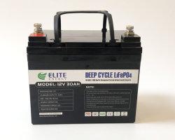 Fonte de alimentação DC Recarregável Elite Ciclo Profundo LiFePO4 Bateria 12V 30A Bateria com preços comparativos