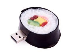 Индивидуальная настройка модели продовольствия ПВХ USB флэш-памяти японским суши