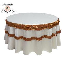 Panno della Tabella di cerimonia nuziale del taffettà del petalo della tovaglia di cerimonia nuziale del coperchio della Tabella