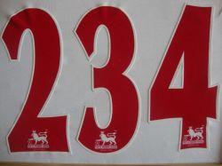 Les troupeaux des transferts de nombres avec indice de logos pour les chandails