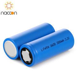 製造業者OEMの円柱26650再充電可能な円柱リチウムイオン3.2V 3000mAh 26650電池LiFePO4