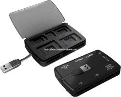 USB2.0 قارئ بطاقات واحد متكامل مع صندوق تجميع & موزع/هدية USB (HE-623C)