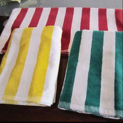 Пряжа домашний полотенце на пляже полотенце полосой бассейн полотенце (DPF10103)