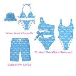 الصيف المثيرة 2021 ملابس السباحة الجميلة Bikini ملابس السباحة للسيدات 2 قطعة زى سباحة للنساء زى سباحة مع قبعة دلو