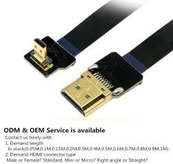 Flex Xaja Super Macio cabo HDMI Fpv micro macho de ré até 90 de ângulo reto macho padrão para a Sony A6500