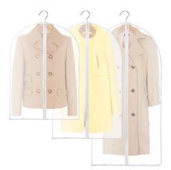 PEVA transparente de la bolsa de ropa de abrigo y vestir traje de protección de la tapa