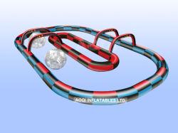Pista gonfiabile della scanalatura di scorrimento di Zorb della strumentazione del gioco dell'acqua dei giochi di sport (AQ1646-2)