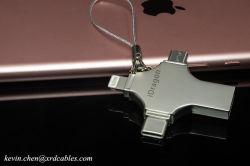 tipo C di deviazione standard TF del lettore della scheda di memoria del USB di 4in1 OTG micro per il Android/iPhone 7 6 più