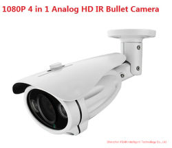 1080P IR à prova de infravermelhos analógico de Metal Bullet Câmara com 4 em 1 Saída de vídeo