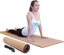 Non-Toxic y suave Goma Cork estera del yoga