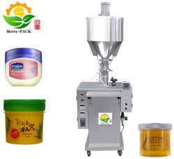 Crema cosmética Embalaje de bambú el bambú de llenado de máquina de embalaje de productos cosméticos