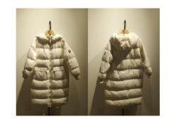 여성용 롱(Women Long)의 트렌디하고 따뜻한 겨울 화이트 패딩 코트 후드가 있는 스타일