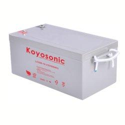 Pila secondaria solare sigillata 250ah della batteria di quarzo del cristallo di cavo della batteria LC250-12 dell'a cristallo di cavo di Koyosonic 12V