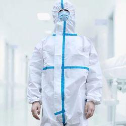 隔離のつなぎ服ボディ保護ジャンプスーツの使い捨て可能な生殖不能の医学のオーバーオールのNon-Woven防護衣完全なボディ生物的保護病院のユニフォーム
