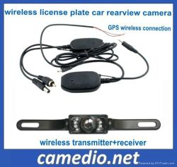 밤 Vision Wireless License Plate Car Rear View Camera Wireless Connecting Between Portable GPS와 Car Camera