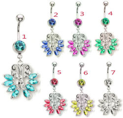 Body Piercing Jewelry Buttertly Belly Ring (NSW004)