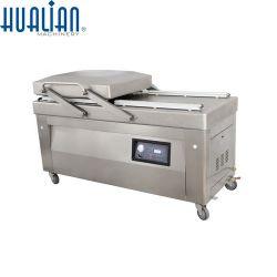 Hvc-720S/2b Hualian Chambres doubles de grande taille quatre barres d'étanchéité de machine d'emballage sous vide